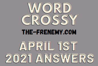 Word Crossy April 1 2021 Answers Puzzle
