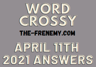 Word Crossy April 11 2021 Answers Puzzle