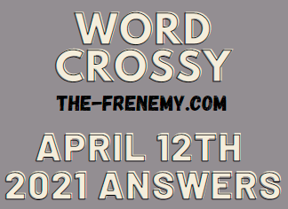 Word Crossy April 12 2021 Answers Puzzle
