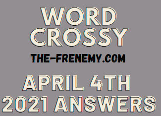 Word Crossy April 4 2021 Answers