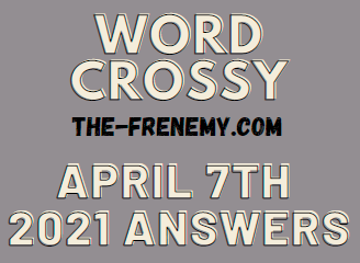 Word Crossy April 7 2021 Answers