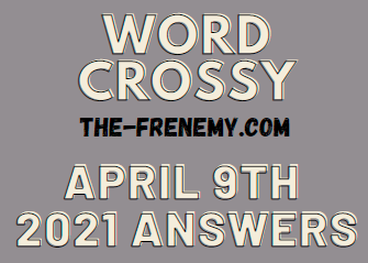 Word Crossy April 9 2021 Answers Puzzle