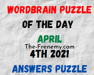 Wordbrain Puzzle of the Day April 4 2021 Answers
