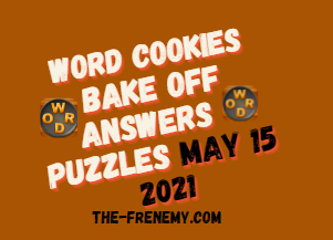 Word Cookies Bake Off May 15 2021 Answers