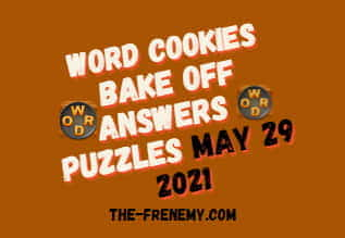 Word Cookies Bake Off May 29 2021 Answers