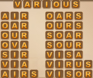 Word Cookies May 31 2021 Answers Puzzle