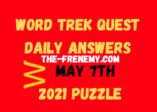 Word Trek Quest Daily May 7 2021 Answers Puzzle