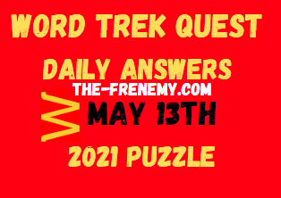Word Trek Quest May 13 2021 Answers