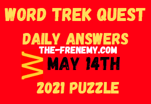 Word Trek Quest May 14 2021 Answers Puzzle