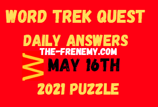 Word Trek Quest May 16 2021 Answers