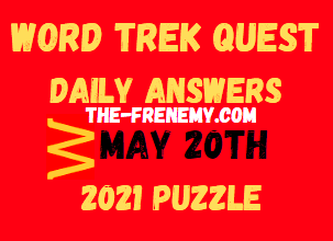 Word Trek Quest May 20 2021 Answers