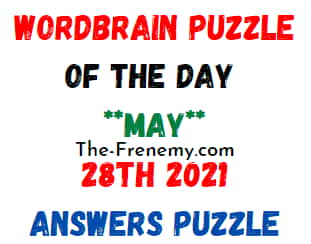 Wordbrain Puzzle of the Day May 28 2021 Answers