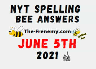 Nyt Spelling Bee June 5 2021 Answers Puzzle