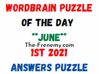 Wordbrain Puzzle of the Day June 1 2021 Answers