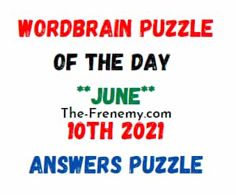 Wordbrain Puzzle of the Day June 10 2021 Answers Puzzle