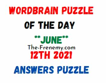 Wordbrain Puzzle of the Day June 12 2021 Answers