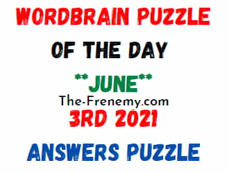 Wordbrain Puzzle of the Day June 3 2021 Answers Puzzle