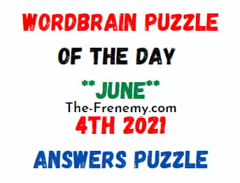 Wordbrain Puzzle of the Day June 4 2021 Answers