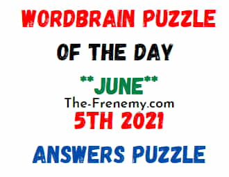 Wordbrain Puzzle of the Day June 5 2021 Answers Puzzle