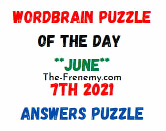 Wordbrain Puzzle of the Day June 7 2021 Answers Puzzle