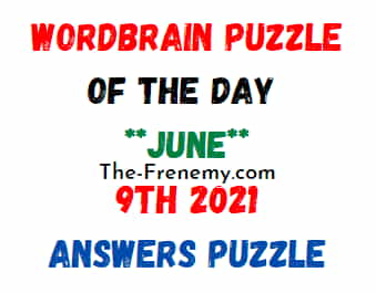 Wordbrain Puzzle of the Day June 9 2021 Answers Puzzle