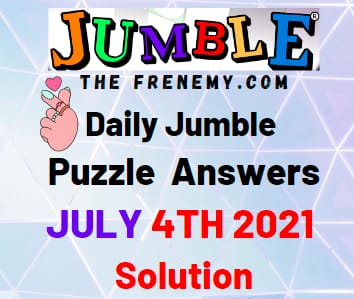 Jumble July 4 2021 Answers Puzzle Today