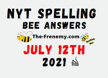 Nyt Spelling Bee July 12 2021 Answers Puzzle