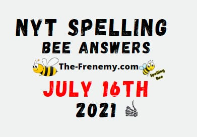 Nyt Spelling Bee July 16 2021 Answers Puzzle