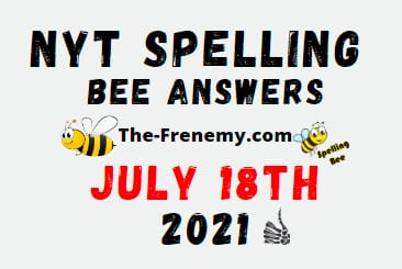 Nyt Spelling Bee July 18 2021 Answers Puzzle