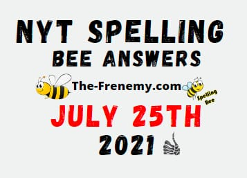 Nyt Spelling Bee July 25 2021 Answers Puzzle
