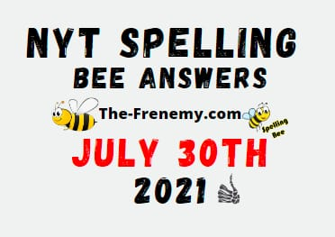 Nyt Spelling Bee July 30 2021 Answers Puzzle