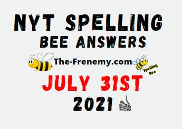 Nyt Spelling Bee July 31 2021 Answer Puzzle