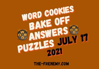 Word Cookies Bake Off July 17 2021 Answers Puzzle