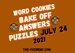 Word Cookies Bake Off July 24 2021 Answers Puzzle