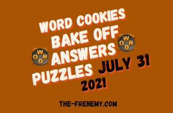 Word Cookies Bake Off July 31 2021 Answers Puzzle