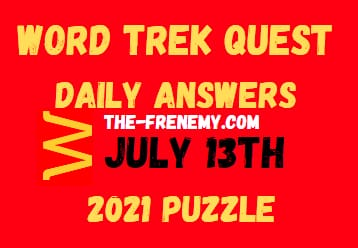 Word Trek Quest Daily July 13 2021 Answers Puzzle