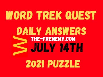 Word Trek Quest Daily July 14 2021 Answers Puzzle