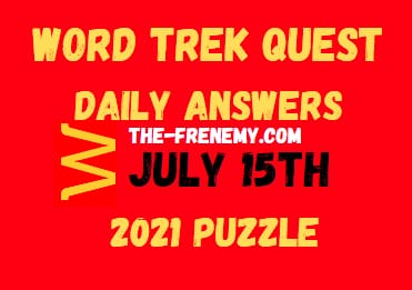 Word Trek Quest Daily July 15 2021 Answers Puzzle