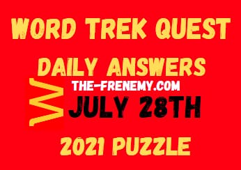 Word Trek Quest Daily July 28 2021 Answers Puzzle