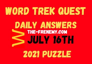 Word Trek Quest July 16 2021 Answers Puzzle