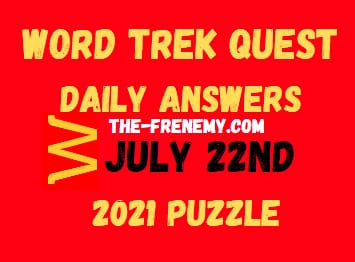 Word Trek Quest July 22 2021 Answers Puzzle