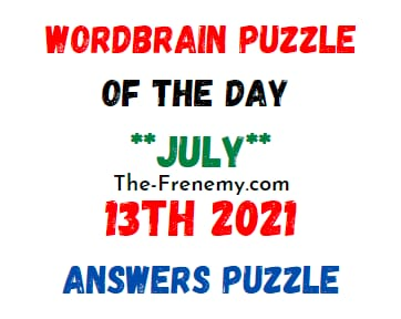 WordBrain Puzzle of the Day July 13 2021 Answers
