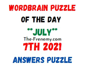 Wordbrain Puzzle of the Day Daily July 7 2021 Answers