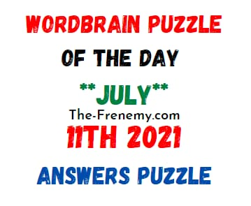 Wordbrain Puzzle of the Day July 11 2021 Answers Puzzle