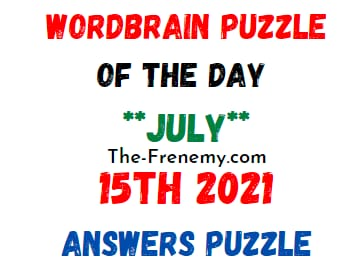 Wordbrain Puzzle of the Day July 15 2021 Answer
