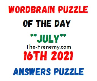 Wordbrain Puzzle of the Day July 16 2021 Answers