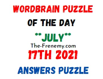 Wordbrain Puzzle of the Day July 17 2021 Answers