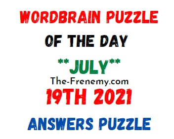 Wordbrain Puzzle of the Day July 19 2021 Answers