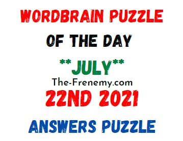Wordbrain Puzzle of the Day July 22 2021 Answers