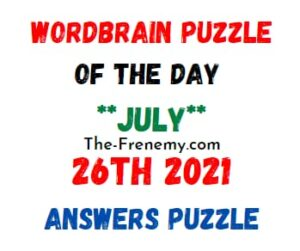 Wordbrain Puzzle of the Day July 26 2021 Answers